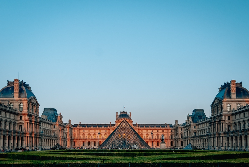 The Louvre at Sunset