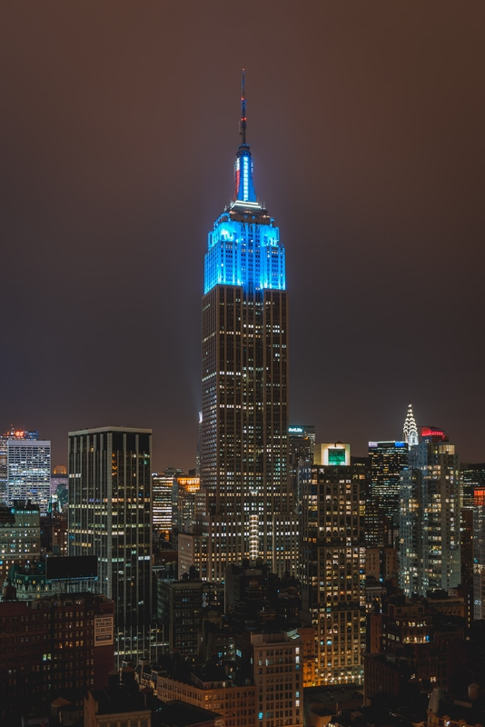 The Empire State Building Lighting Indicates the Electoral Colle