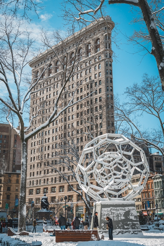 The Flatiron Building and a Buckey Ball