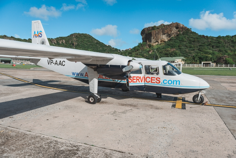 Arriving in St. Barth with Anguilla Air Services