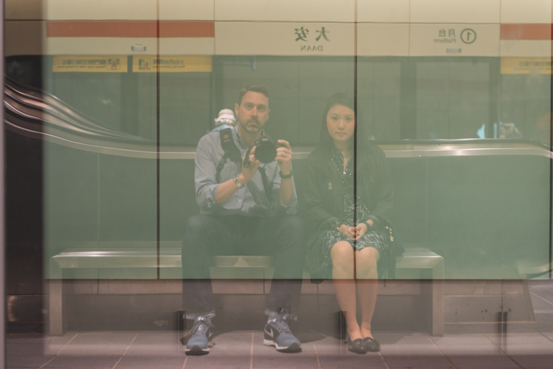 Waiting for the Taipei Subway