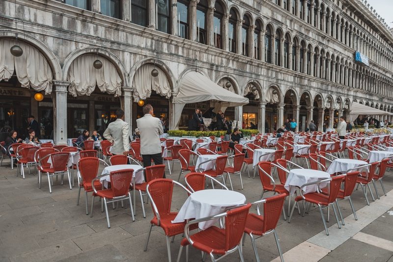 Chairs on the Piazza San Marco