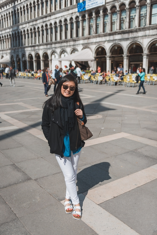 Jessica in PIazza San Marco