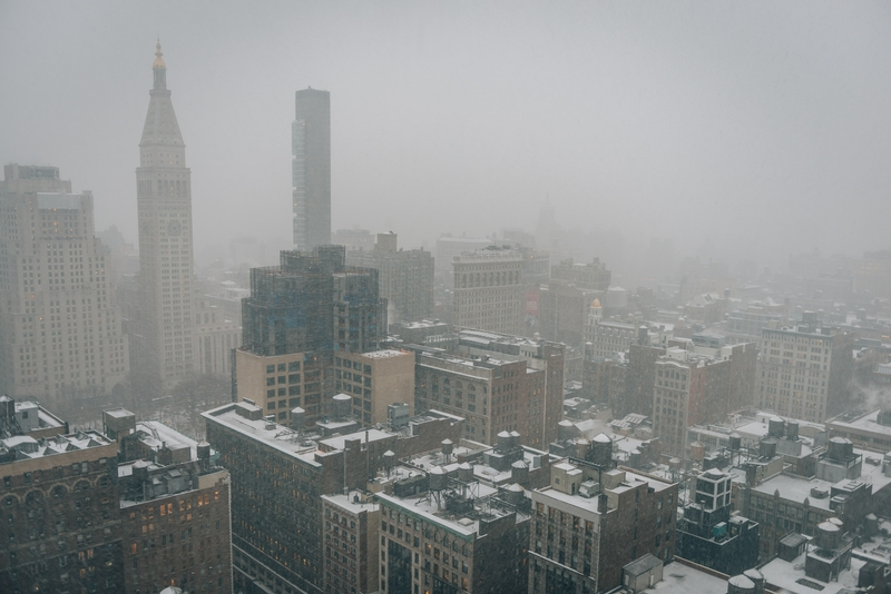 A Snowy Day over Flatiron