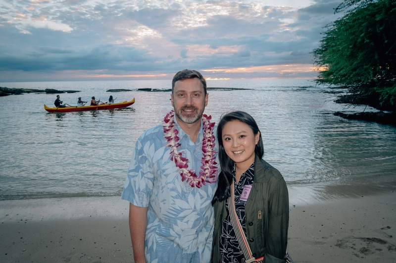 Kris and Jessica at the Luau