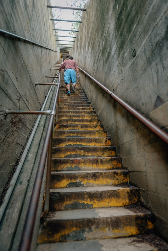 The Narrow Stairs to the Top of Diamond Head
