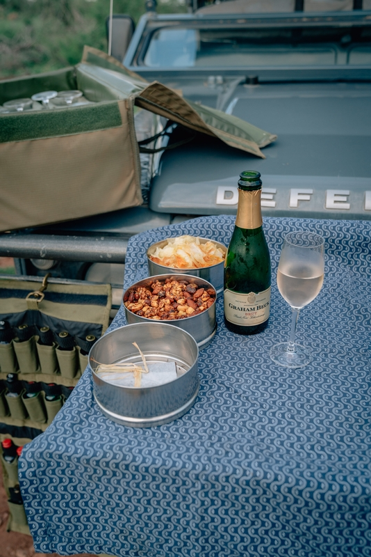 The Sundowner Spread on our First Game Drive