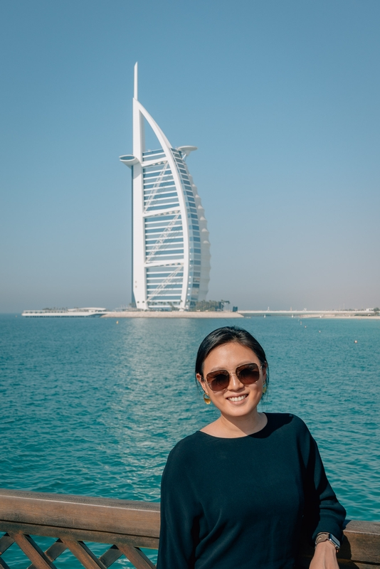Jessica at the Burj al Arab