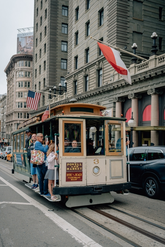 The Powell Street Cable Car in San Francisco
