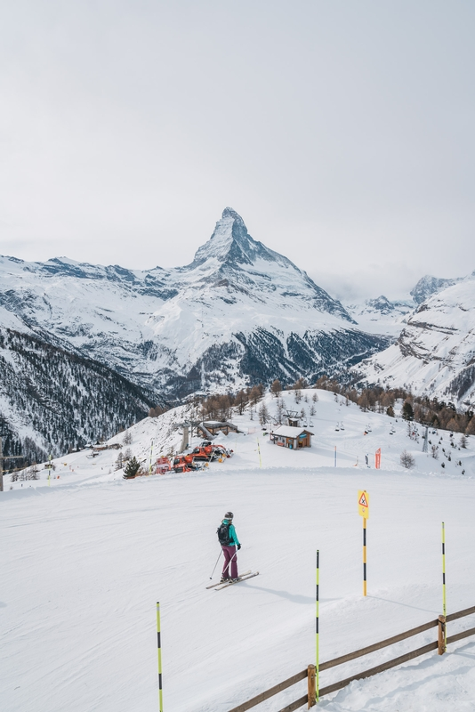 The Matterhorn while Skiing