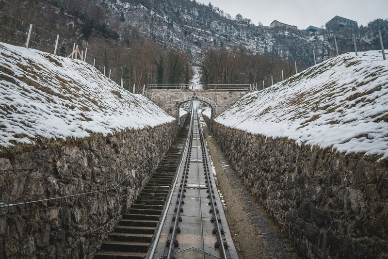 The Funicular to Burgenstock