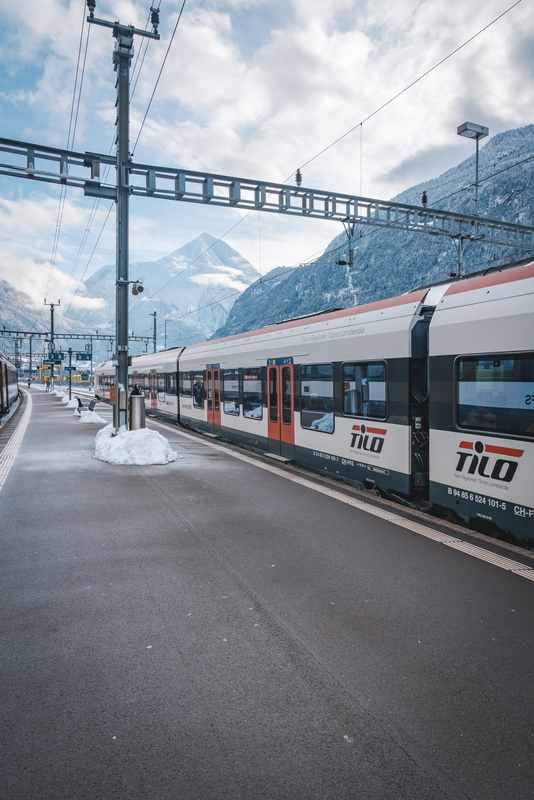 The Mountain Train from Andermatt to Lucerne - Tall