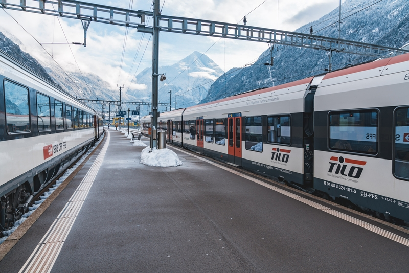 The Mountain Train from Andermatt to Lucerne