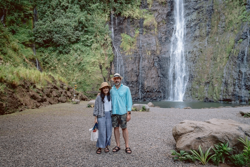 Jessica and Kris at the Tahitian Waterfall